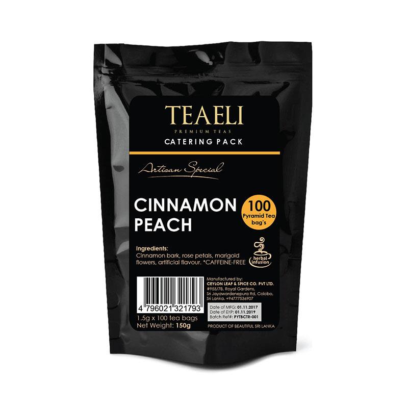 Teaeli Tea 100-Pyramid Flavored Tea Bag Catering Pack