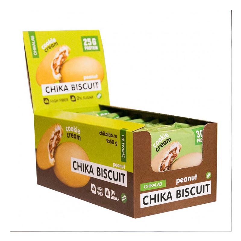 Chikalab Protein Chika Peanut Biscuits 1x9 Packs