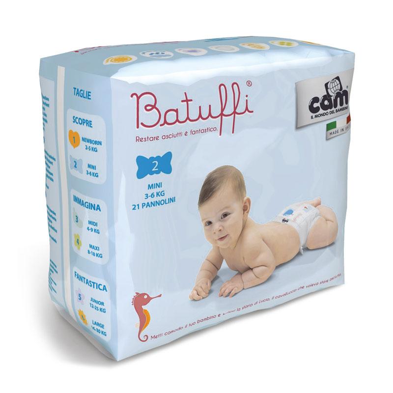 CAM Batuffi New Born Diapers 1 (2-5 Kg)