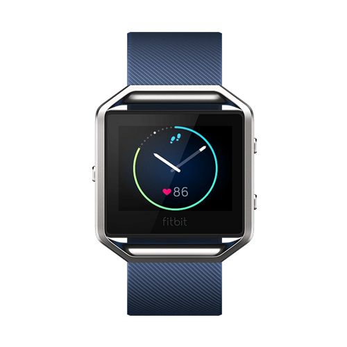 Fitbit Blaze Blue Small Smart Fitness Watch with GPS Heart Rate Monitor