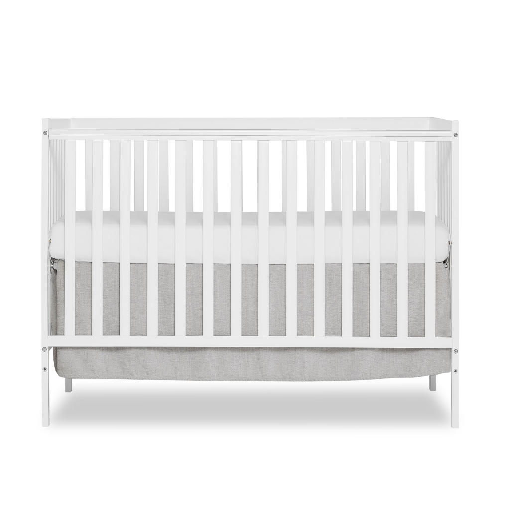Dream On Me Synergy 5-in-1 Convertible Multipurpose Baby Crib - White