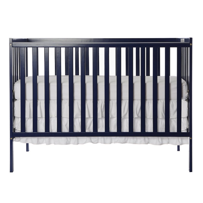 Dream On Me Wooden Finish Convertible Baby Crib - Royal Blue