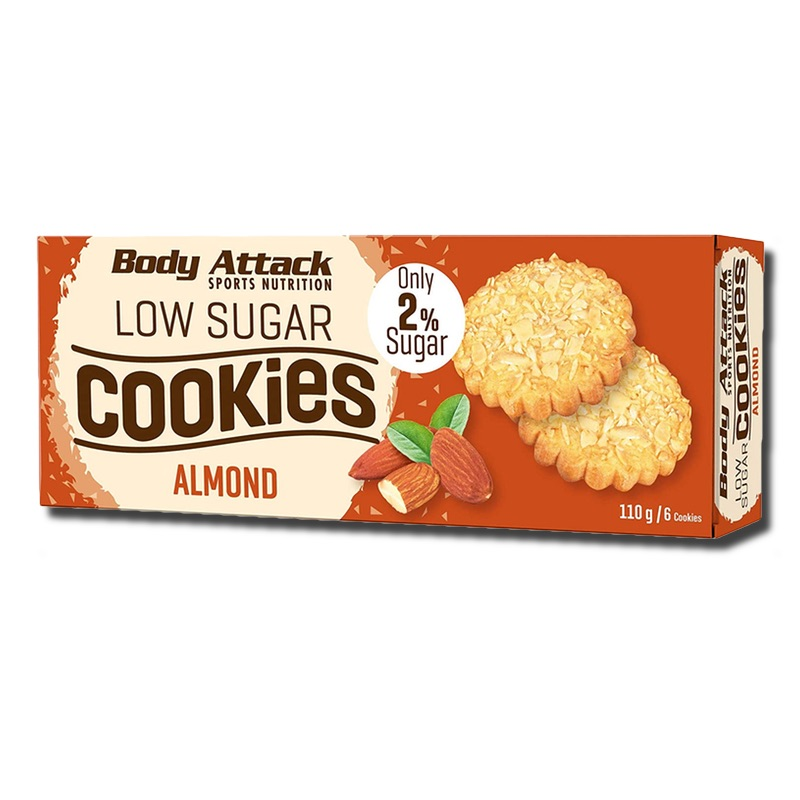 Body Attack Low Sugar Cookies Almond 115 g