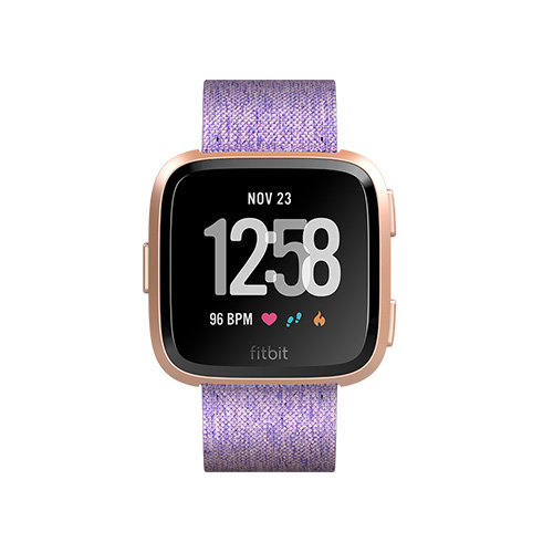 Buy FitBit Versa Special Edition Lavender Wooven Rose Gold in Dubai