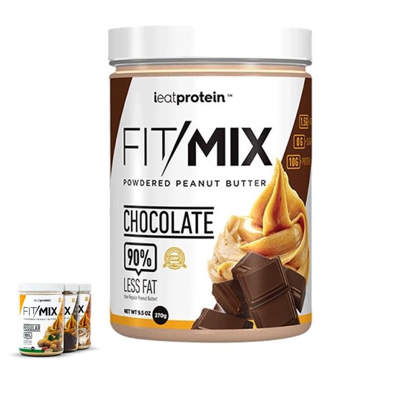 ieatprotein Fit Mix Powdered Peanut Butter 270g Chocolate