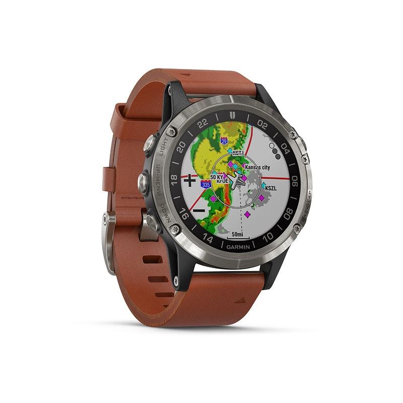 1dc85fffb9d Garmin D2™ Delta 47mm Aviator Watch with Brown Leather Band (010 ...