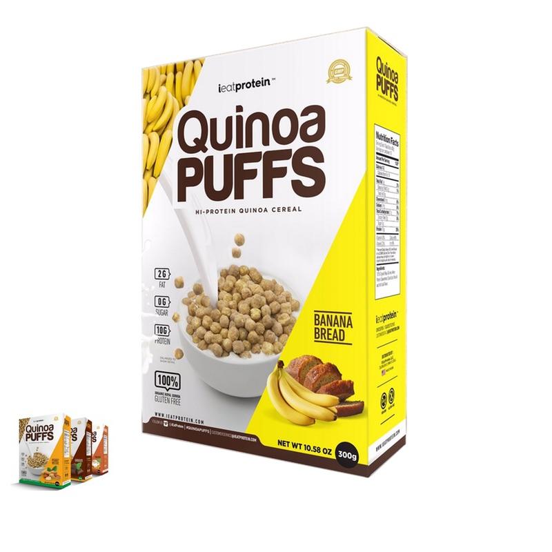 ieatprotein Quinoa Puffs 300g Banana