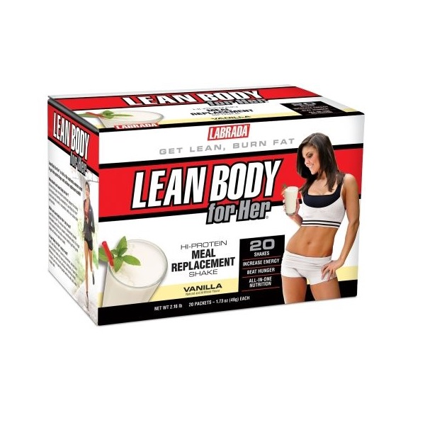 Labrada Lean Body for Her Hi-Protein Meal Replacement Shake - 20 Packets