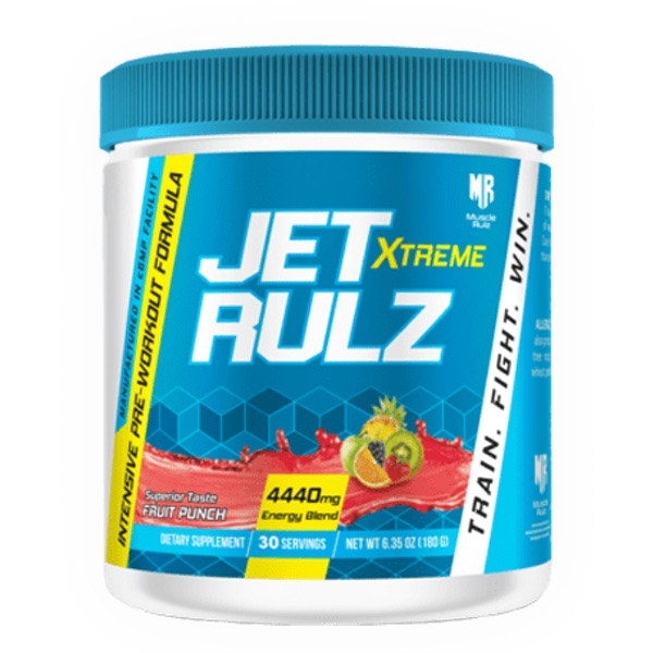 Muscle Rulz Jet Rulz Extreme 400mg Caffeine Pre Workout