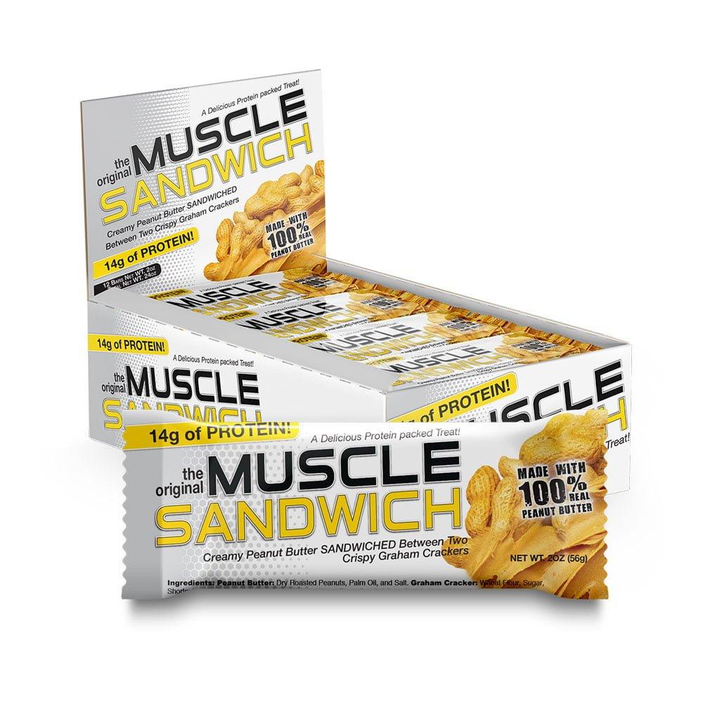 Muscle Sandwich Protein Bar Peanut Butter 56 g 12 Bars