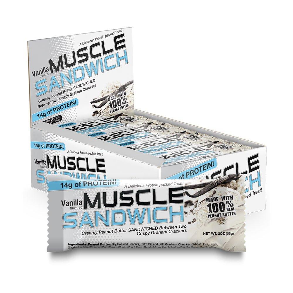 Muscle Sandwich Protein Bar Vanilla 56 g 12 Bars