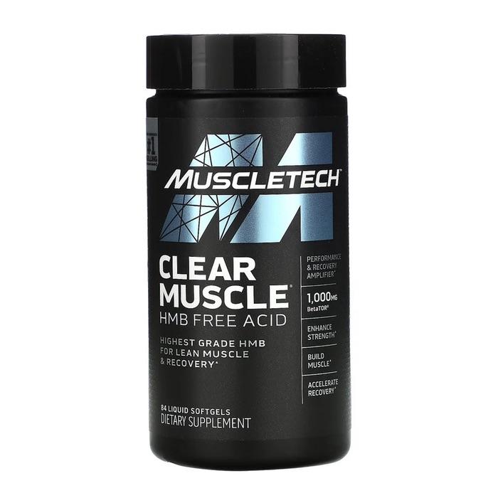 Muscletech Clear Muscle HMB Free Acid 84 Softgels