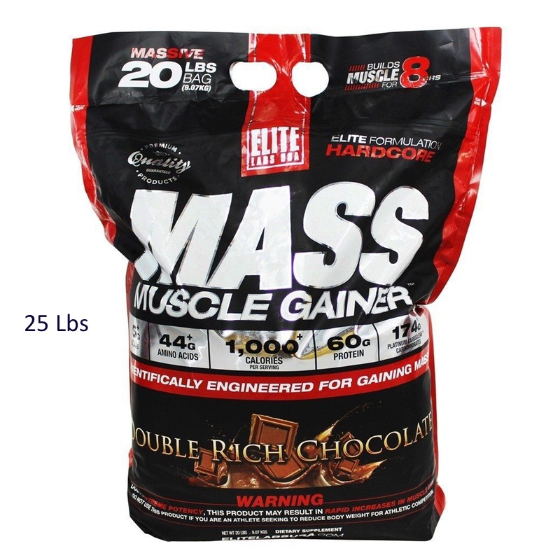 Elite Labs USA Mass Muscle Gainer 25 lbs (Large Bag)