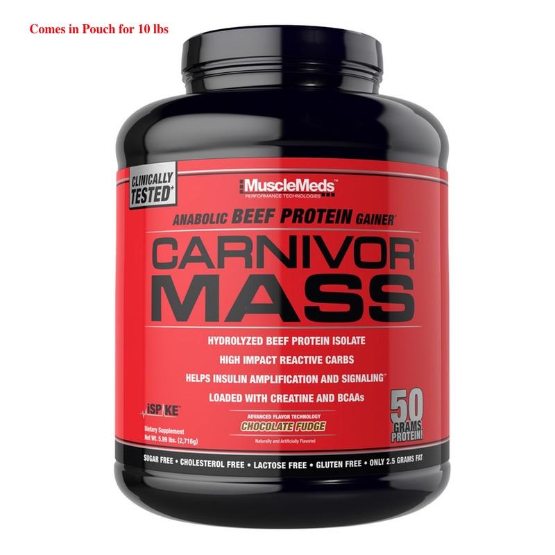 Muscle Meds Carnivor Mass - 10 Lbs
