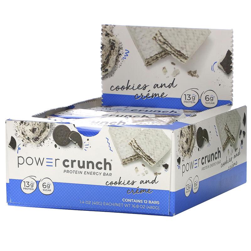 Power Crunch Protein Bar Original Cookies & Cream 40 g 1x12