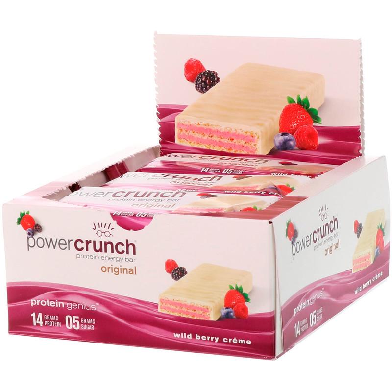 Power Crunch Protein Bar Original Strawberry Creme 40 g 12 Bars