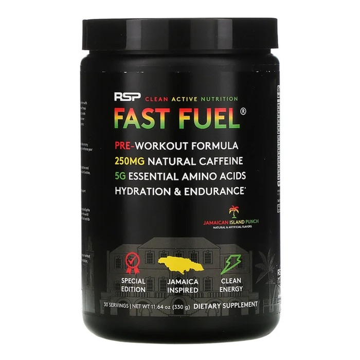 RSP Pre Workout Fast Fuel Jamaican Island Edition 330g