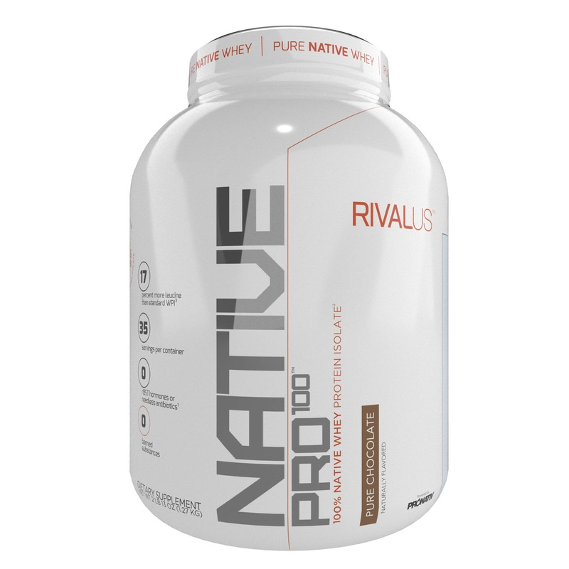 RivalUS Native Pro 100 2.8 lbs 100% Native Whey Protein Isolate