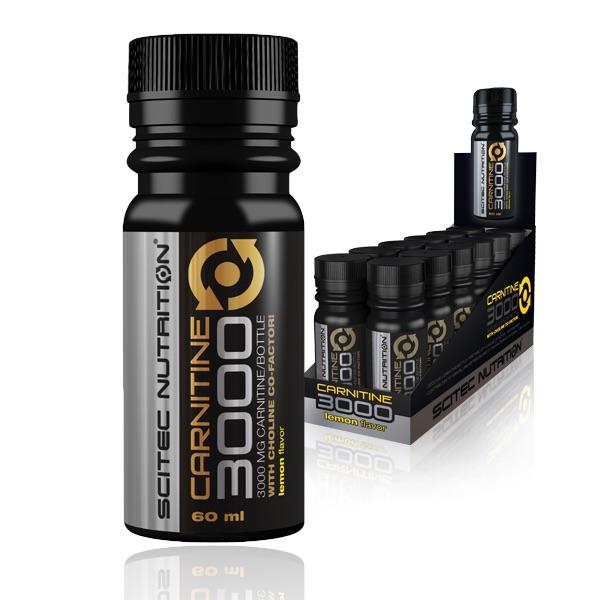 Scitec L Carnitine 3000 Shots 12 pcs x 60 ml Lemon Flavor