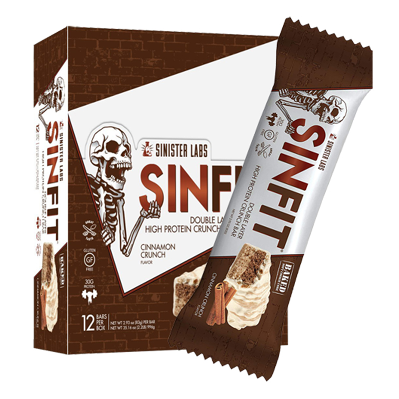 Sinister Labs Sinfit Cinamon Crunch Bars - 12 Bars