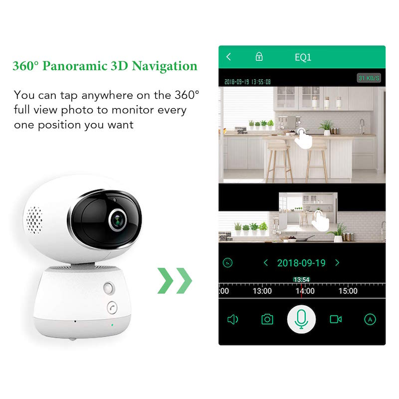 Smart Full HD WiFi Cam with PAN and Tilt Control for Home and Office