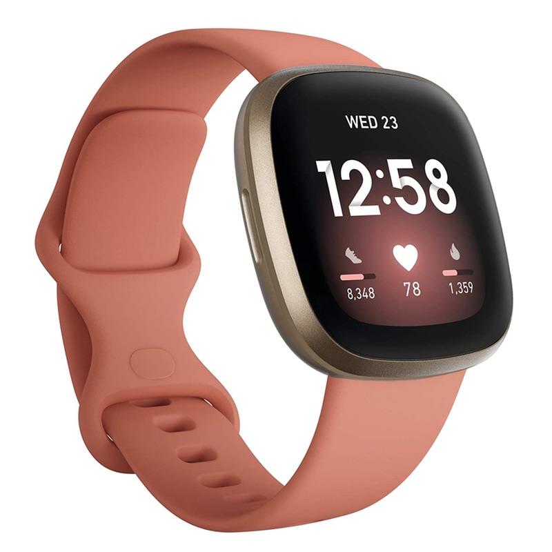 FitBit Versa 3 Pink Clay Soft Gold Aluminium