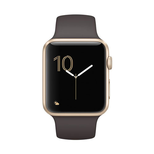 Apple Watch Series 2 Mnpn2 42mm Gold Aluminum Case Cocoa Sport Band Price Dubai