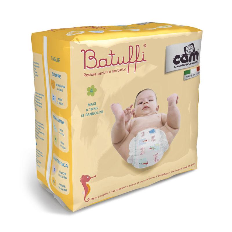 CAM Batuffi Maxi Diapers 4 (8-18 Kg)