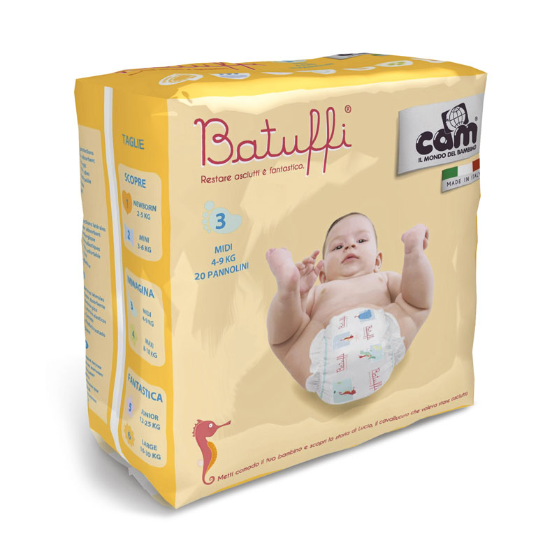 CAM Batuffi Midi Diapers 3 (4-9 Kg)