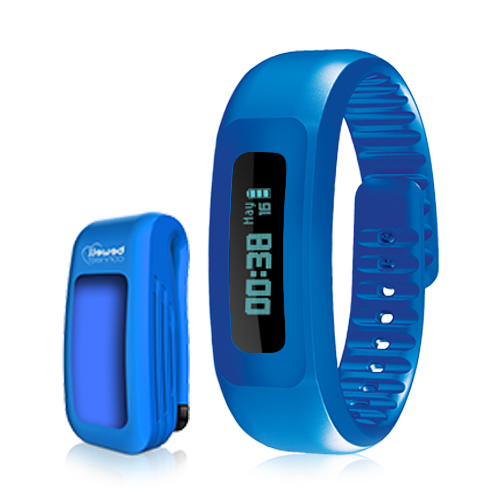 Bewell Connect Mycoach Activity Tracker Blue BW-F17 Dubai