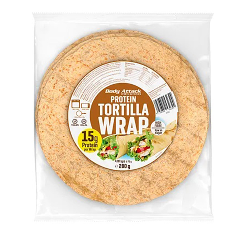 Body Attack Protein Tortilla Wraps 1x14