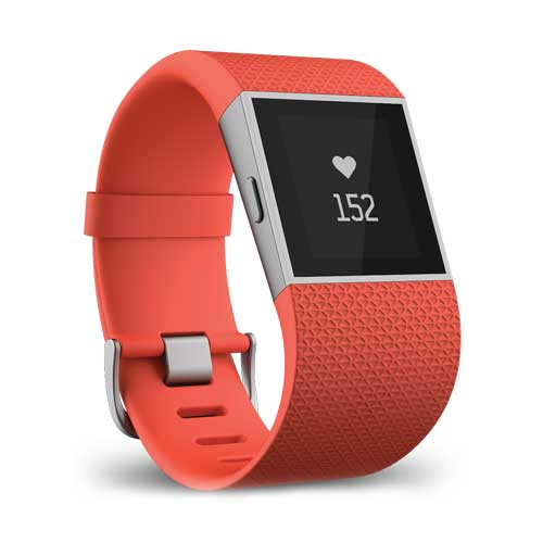 Buy Fitbit Surge Fitness Super Watch Tangerine Large UK/EU in Dubai