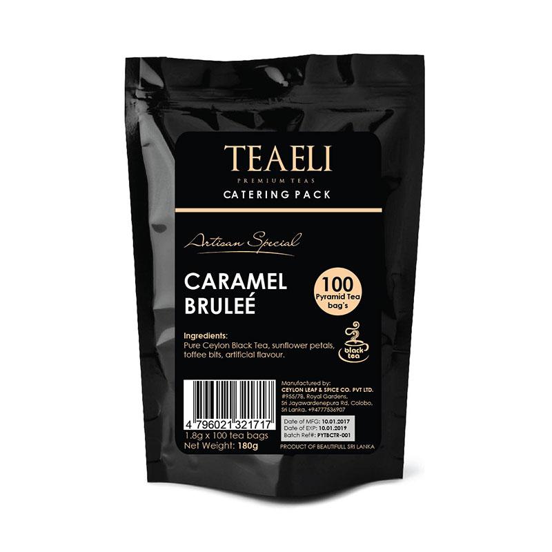 Teaeli Tea 100 Pyramid Flavored Tea Bag Catering Packs