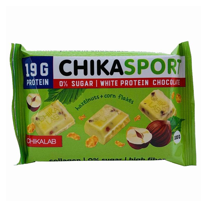 Chika Sport Protein White Chocolate with Hazelnut 1x4