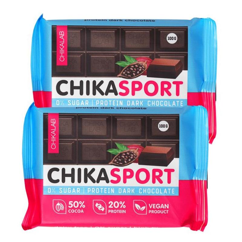 ChikaLab Chika Sport Protein Bar - Dark Chocolate 4 in  Box