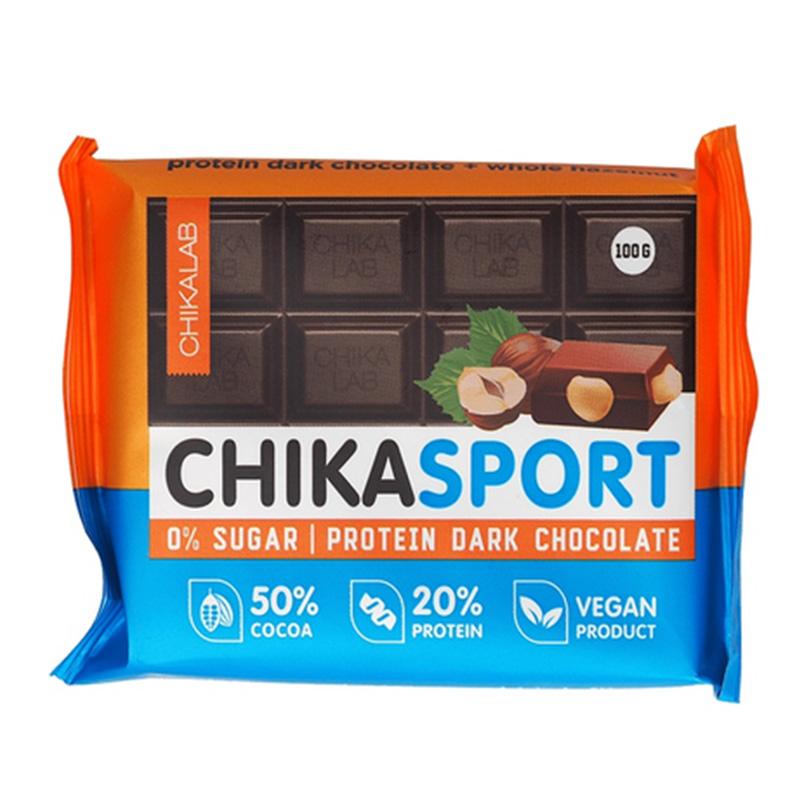 ChikaLab Chika Sport Protein Bar - Dark Chocolate Hazelnut  4 in  Box