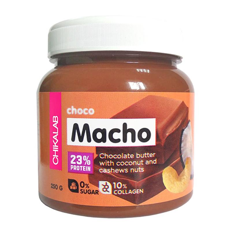 ChikaLab Choco Macho Chocolate Butter with Coconut & Cashews 250 G