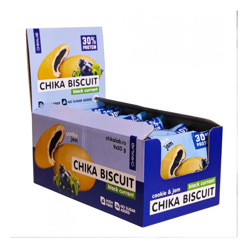 Chikalab Protein Chika Black Currant Biscuits 1x9 Packs
