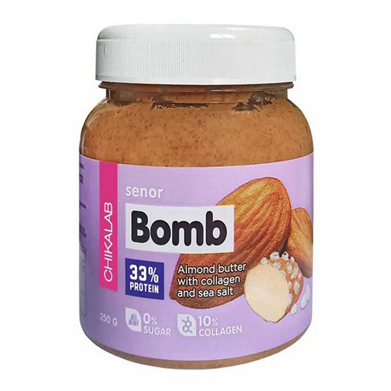ChikaLab Senor Bomb Almond Butter with Collagen & Sea Salt 250 G