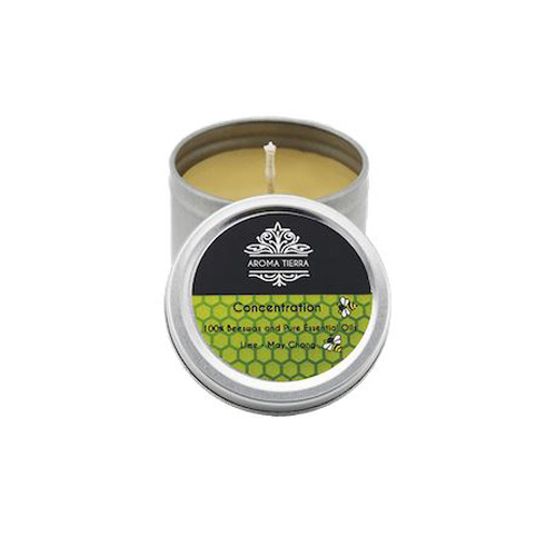 Concentration Travel Tin Aroma Beeswax Candles Distrubutor in Dubai