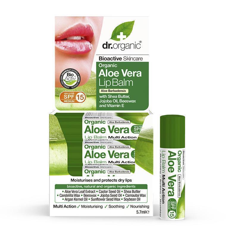 Dr. Organic Aloe Vera Lipbalm 5.7ml