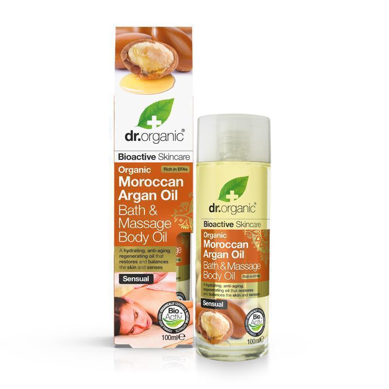 Dr. Organic Moroccan Argan Oil Bath & Massage Oil 100ml