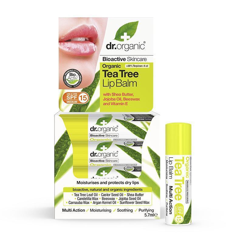 Dr. Organic Tea Tree Lipbalm 5.7ml
