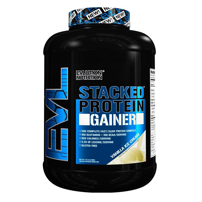 EVL Stacked Protein Gainer 7 Lbs
