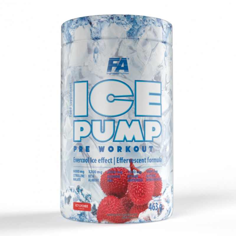 FA Nutrition Ice Pump Pre Workout Lychee 463 g