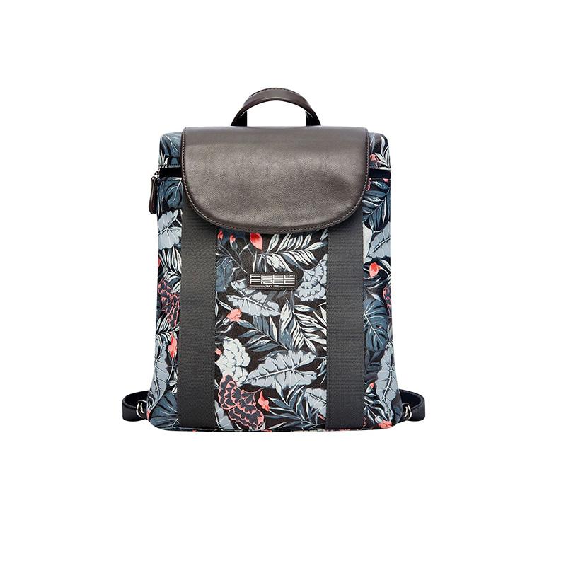 Feel Free Mini Tropical Backpack - Mid-Night Black