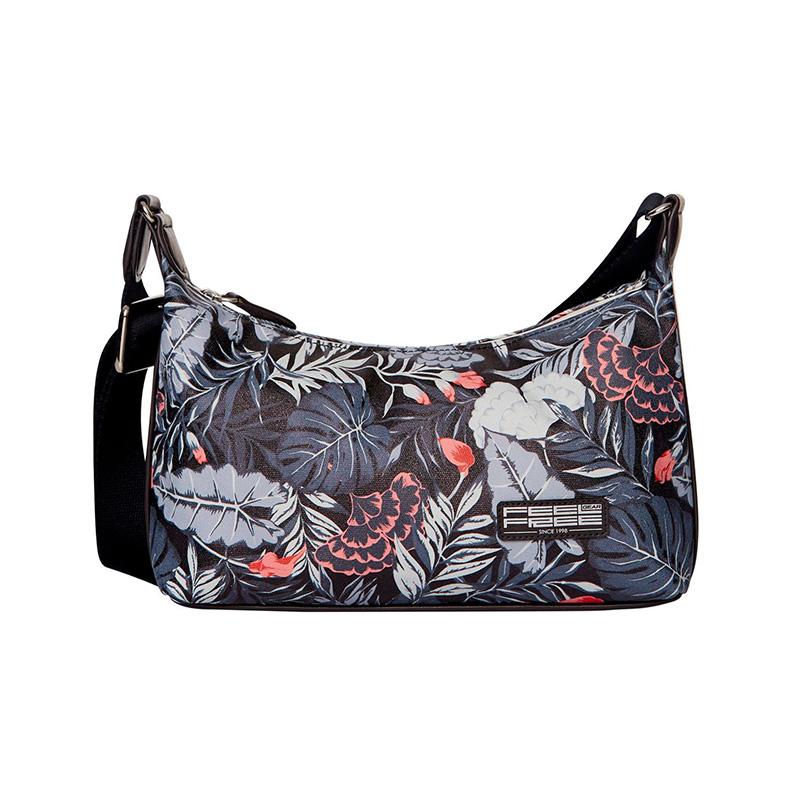 Feel Free Mini Tropical Handbag - Mid-Night Black