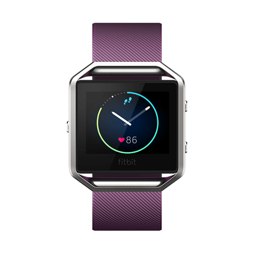 Fitbit Blaze Plum Small Fitness Watch With Heart Rate Monitor GPS