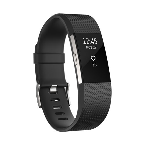 Fitbit Charge 2 Black Silver Large Online Price Saudi - KSA