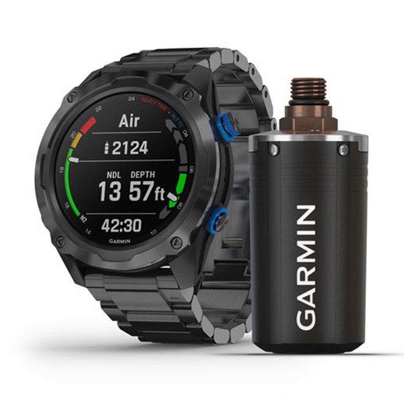 Garmin Descent Mk2i Bundle Titanium Carbon Grey DLC with DLC Titanium Band Bundle Descent T1